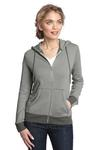 Ladies Mini Stripe Full Zip Hoodie
