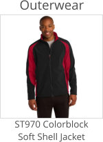 ST970 Coloroblock Soft Shell Jacket